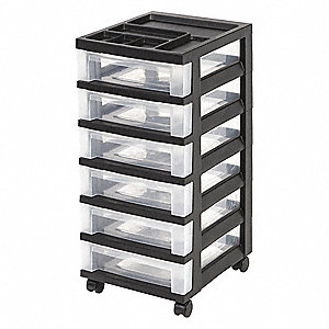 Cart with Organizer Top,6 Drawer