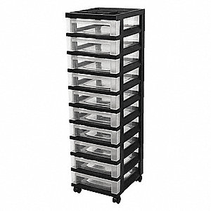 Cart with Organizer Top,10 Drawer
