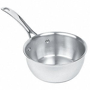 Stainless Steel Sauteuse pan&#x3b; Capacity (Qt.): 1