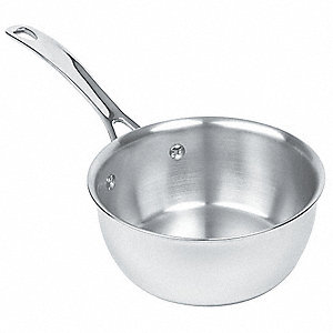 Stainless Steel Sauteuse pan&#x3b; Capacity (Qt.): 4-3/4