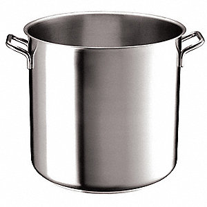 Stainless Steel Stock Pot; Capacity (Qt.): 6-1/2