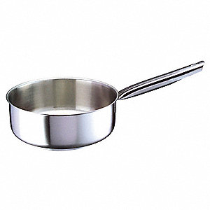 Stainless Steel Sauce Pan&#x3b; Capacity (Qt.): 2-2/3