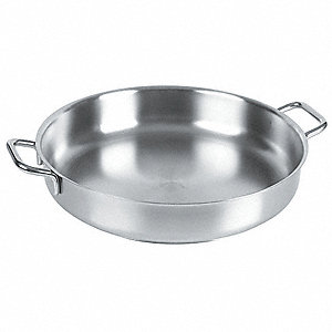 Stainless Steel Paella Pan&#x3b; Capacity (Qt.): 10