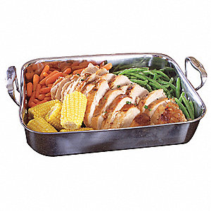 Stainless Steel Rectangle Buffet Roaster&#x3b; Capacity (Qt.): 6