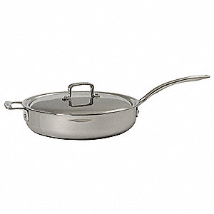 Stainless Steel Round Buffet Saute Pan; Capacity (Qt.): 5