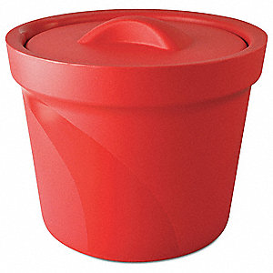 Ice Bucket with Lid,Red,4L