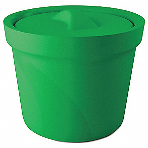 Ice Bucket with Lid,Green,4L