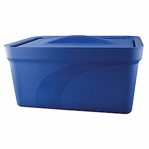 Ice Pan with Lid,Blue,9L