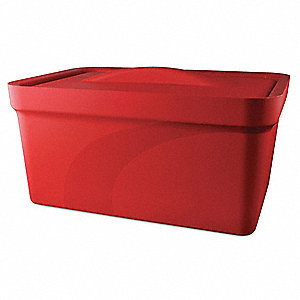 Ice Pan with Lid,Red,9L