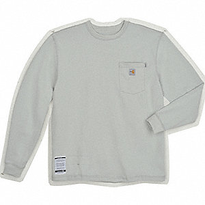 FR Long Sleeve T-Shirt,HRC 2,Lt Gry,2XT