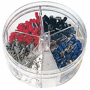 Ferrule Assort Kit, 150 Pieces, #24-18 AWG