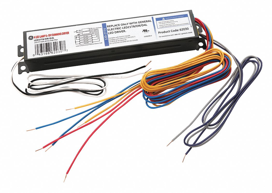 Ge Lighting 84w Power Output Dimmable Led Driver 062 Adc Wiring 0 10v Dimmers Current Dimming 39cc85 Led21t8 Dr D 4l Grainger