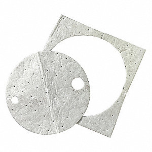 Drum Top Absorb Pad,Universal,Gray,PK25