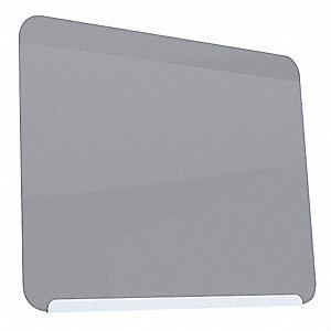 "Gloss-Finish Steel Dry Erase Board, Wall Mounted, 24-3/8""H x 30""W, Gray"