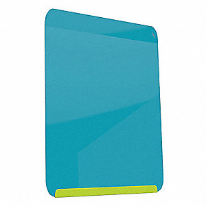 "Gloss-Finish Steel Dry Erase Board, Wall Mounted, 24-3/8""H x 18""W, Blue"