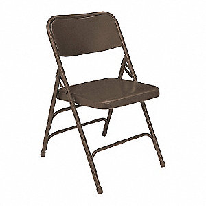 Folding Chair,Brown, Series 300,PK4
