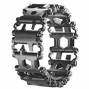Multi-Tool Bracelet,Black,29 Tools