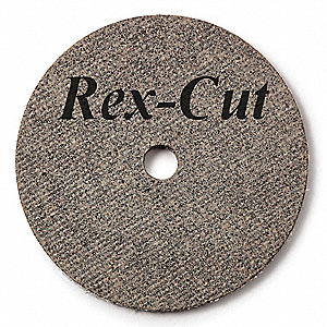 "3"" Type 1 Aluminum Oxide Abrasive Cut-Off Wheel, 3/8"" Arbor, 0.0625""-Thick, 18,080 Max. RPM"