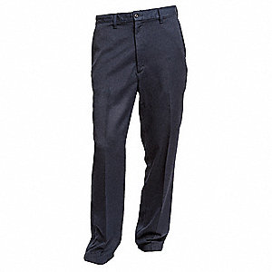 "Navy Pants, TECGEN® Inherent Flame Resistant Fabric, Fits Waist Size: 42"", 30"" Inseam, 13.6 cal./cm2"