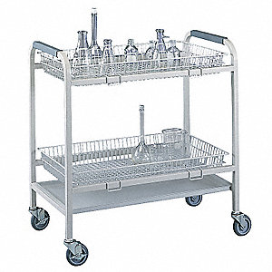 Laboratory Glassware Cart,2 Baskets