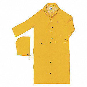 Rain Coat, High Visibility: No, ANSI Class: Unrated, PVC, 5XL, Yellow