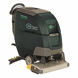 Floor Scrubber, Walk-Behind, 1,000 RPM Brush Speed, Cylindrical Deck Style, 0.5 hp