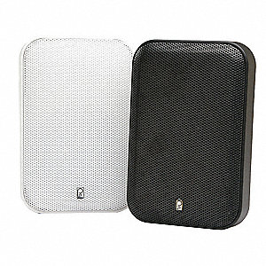 Outdoor Speakers,White,1in.D,200W,PR