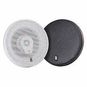 "Outdoor Speakers,  White,  100W Peak Output Power,  7"" Diameter,  1 PR"