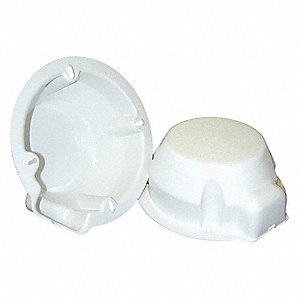 "Speaker Rear Cover,  For Use With 4"" to 6"" Speakers,  White,  7"""