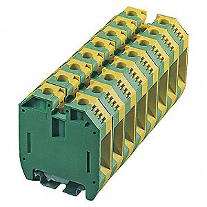 Terminal Block, 600VAC Voltage, 125 Amps, 2 AWG Max. Wire Size, 12 AWG Min. Wire Size