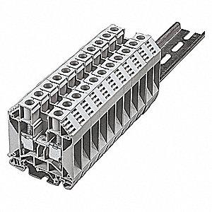 BUSSMANN Terminal Block, 600VAC Voltage, 100 Amps, 3 AWG