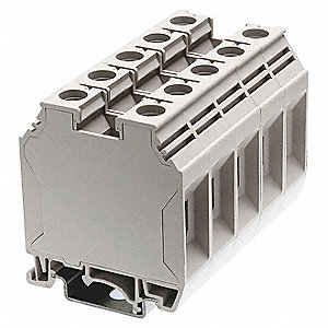 Terminal Block, 600VAC Voltage, 150 Amps, 1 AWG Max. Wire Size, 12 AWG Min. Wire Size