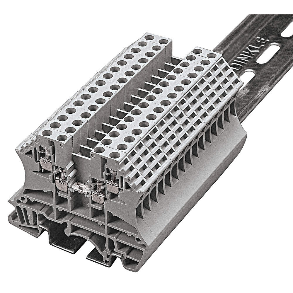 BUSSMANN Terminal Block, 300VAC Voltage, 10 Amps, 14 AWG Max. Wire ...