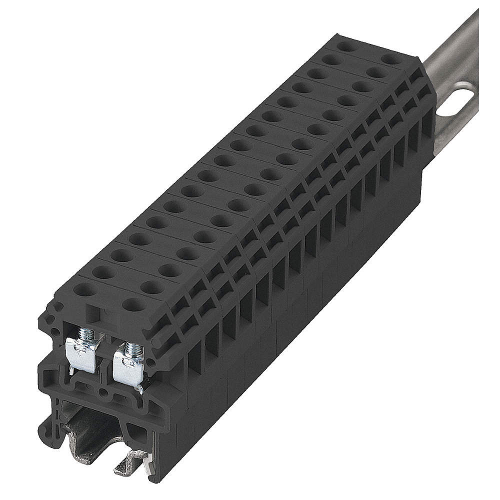 BUSSMANN Terminal Block, 300VAC Voltage, 20 Amps, 12 AWG Max. Wire ...