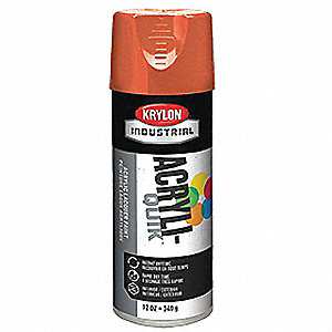 Acryli-Quik Spray Paint in High Gloss Pumpkin Orange for Metal, Steel, Wood, 12 oz.