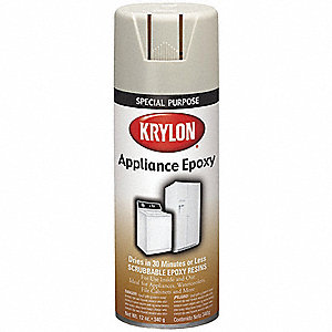 Appliance Epoxy Spray Paint in Gloss White for Metal, 12 oz.