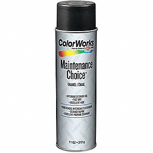 ColorWorks Spray Paint in Flat Flat Black for Metal, 10 oz.