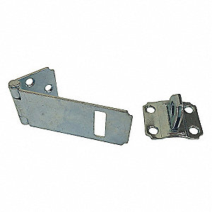 "Conventional Fixed Staple Hasp, 1-1/16""H x 1-1/2""W x 4-1/2""L, Zinc Plated Finish"