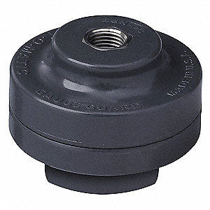 "1/4"" Gauge Port PVC Gauge Guard, Viton Diaphragm Material"