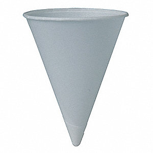 4 oz. Disposable Cone, Paper, White, PK 5000