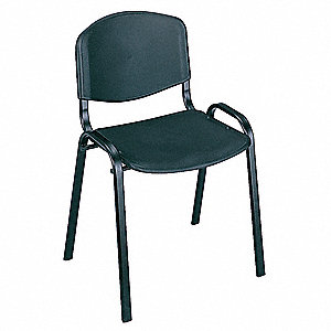 Stack Chair,No Arms,Black,PK4