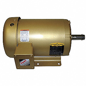 1-1/2 HP General Purpose Motor,3-Phase,1760 Nameplate RPM,Voltage 208-230/460,Frame 145T