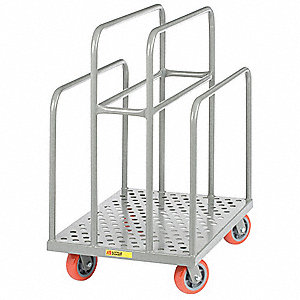 Perforated Deck Lumber Cart, 2000 lb. Load Capacity, (4) Swivel Caster Wheel Type