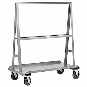 A-Frame Sheet and Panel Truck, 2000 lb. Load Capacity, (4) Swivel Caster Wheel Type
