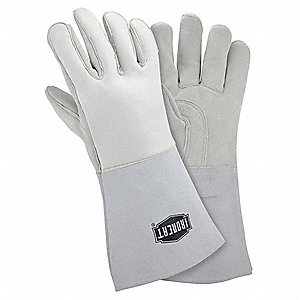 Welder Gloves,S,13 3/4 In.,PR
