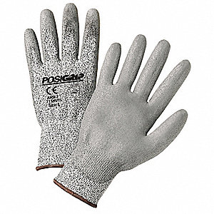 Touchscreen Utility Glove,L,Gray,PK12