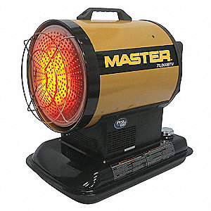 Oil Fired Radiant Heater, 4 gal., 0.50 gph, BtuH Output 70,000, 1750 sq. ft.