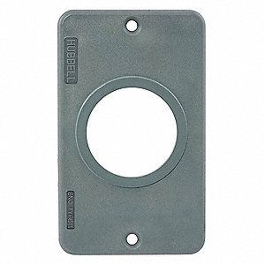 Outlet Box Plate,For 1.39 In dia. Device