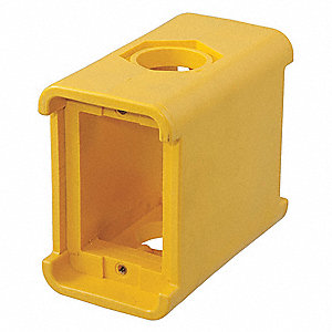 Portable Outlet Box, 2-Gang, 2-Inlet, Thermoplastic Elastomer