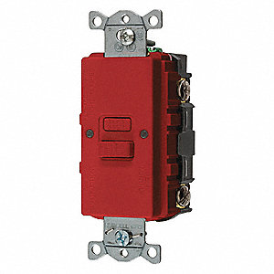 20A Commercial Environments Receptacle, Red; Tamper Resistant: No